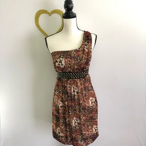 Maurice's Sophisticated One Shoulder Brown Dress